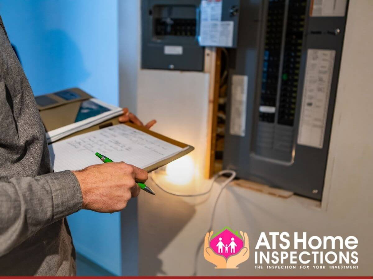 Home inspector performing an energy audit